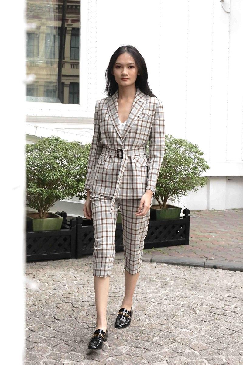 Plaid Grey Blazer - Áo Blazer Kẻ Sọc Xám