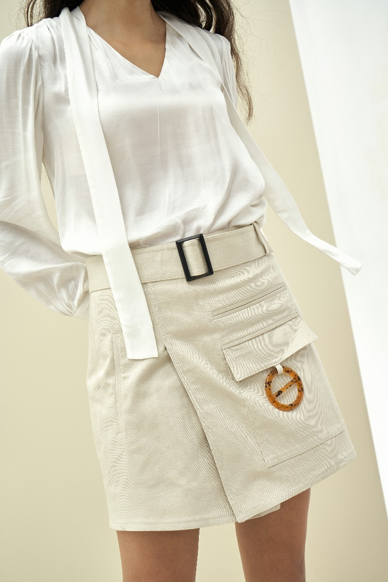 Twill Wrap Skirt - Chân Váy Chữ A Quấn Chéo