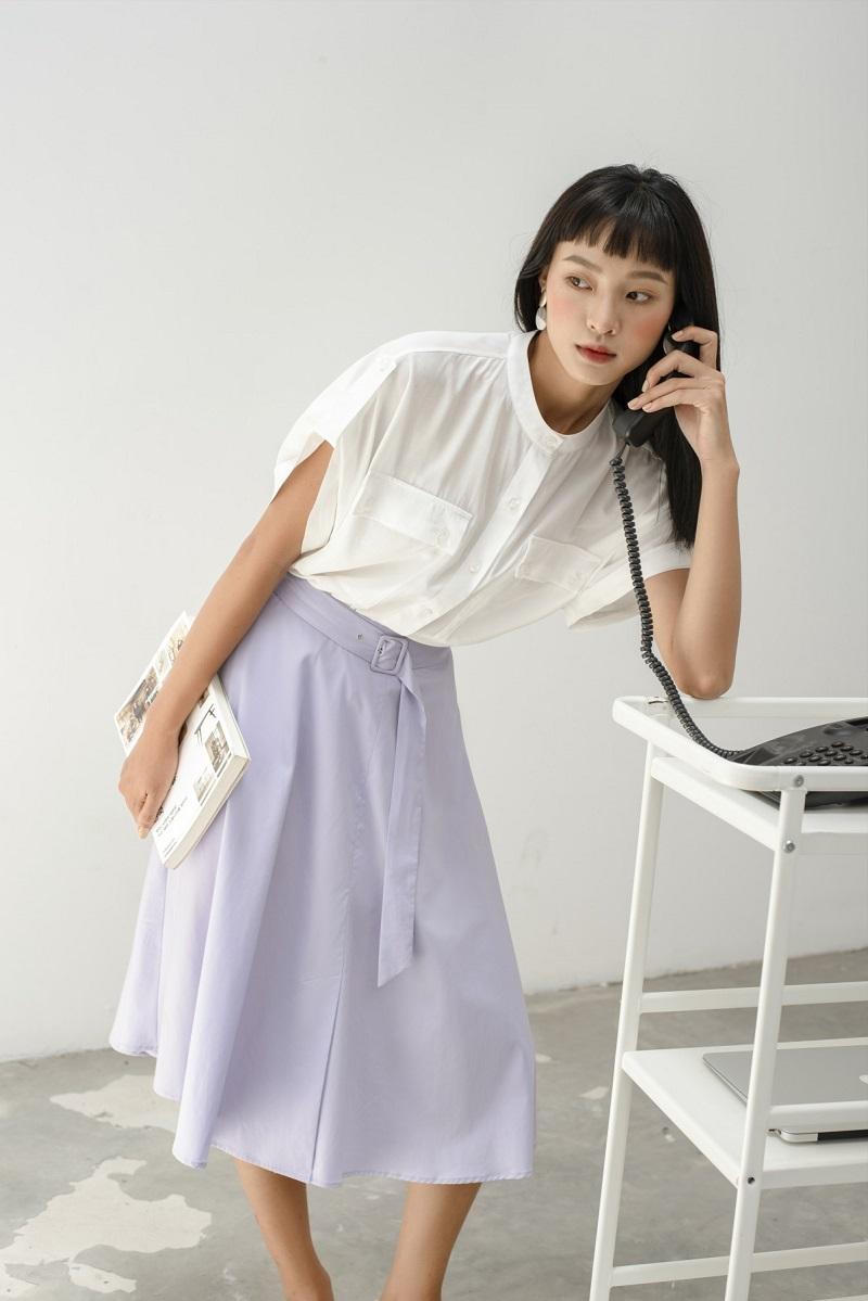 A-line Midi Skirt - Chân Váy Thô Dáng Chữ A