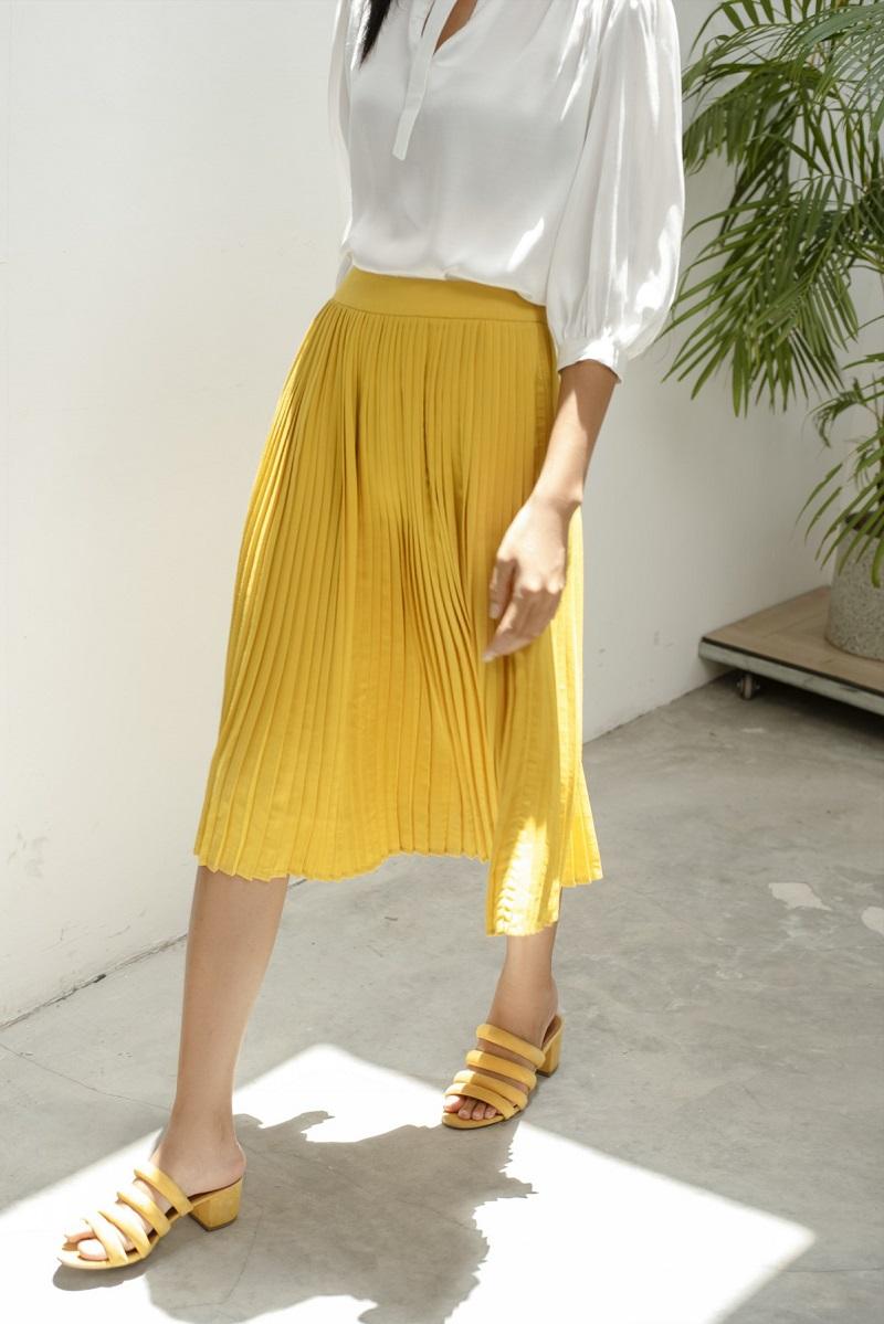Pleat Skirt - Chân Váy Xếp Ly
