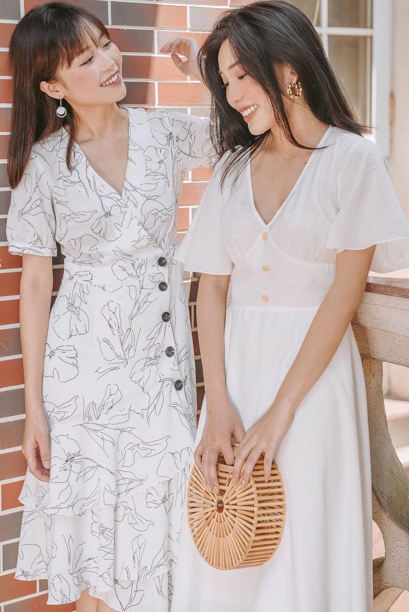 Audrey Dress - Đầm Nhiều Lớp Họa Tiết