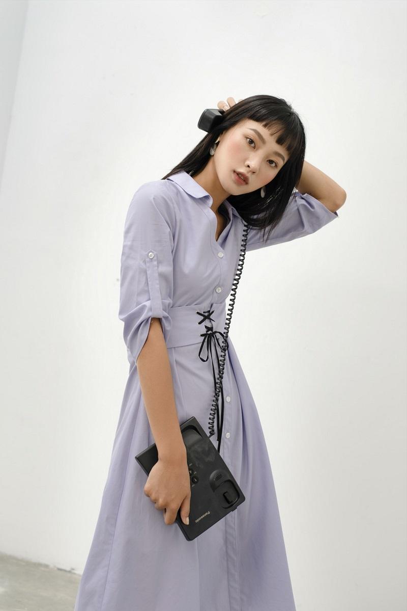 Belted Poplin Shirtdress - Đầm Sơ Mi Đai Eo