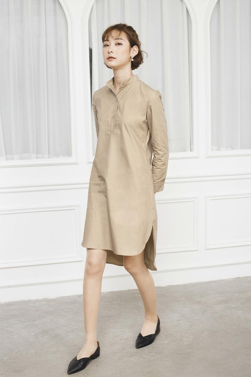 Đầm sơ mi đơn giản 2