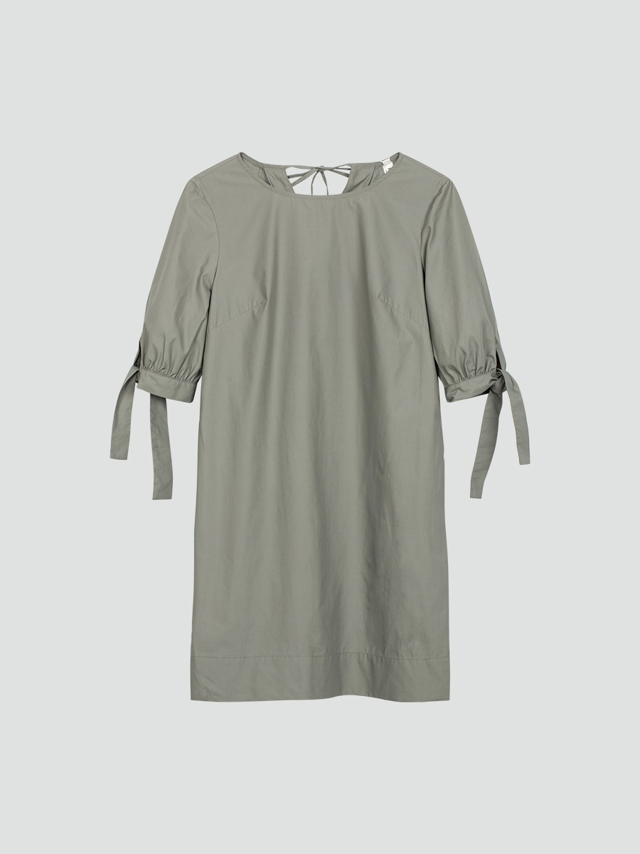 Đầm suông tay nơ 4