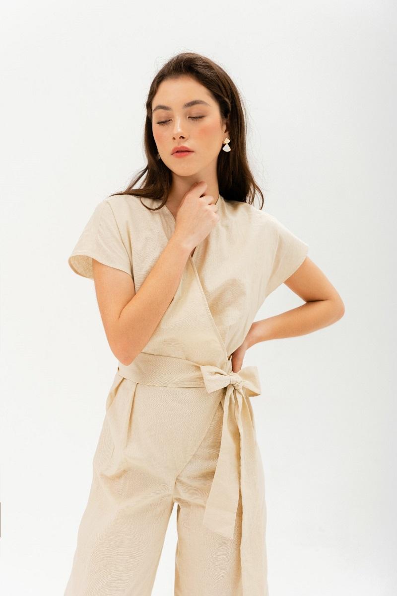 Linen Jumpsuit - Jumpsuit Lanh