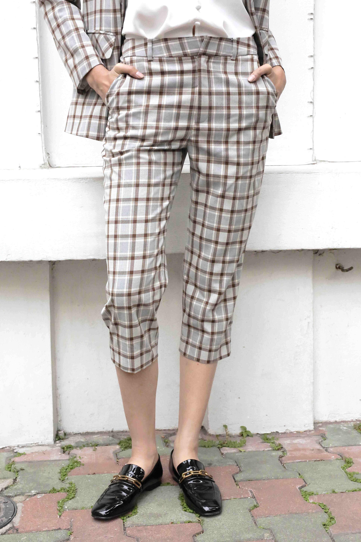 Plaid Grey Pants - Quần Kẻ Sọc Xám