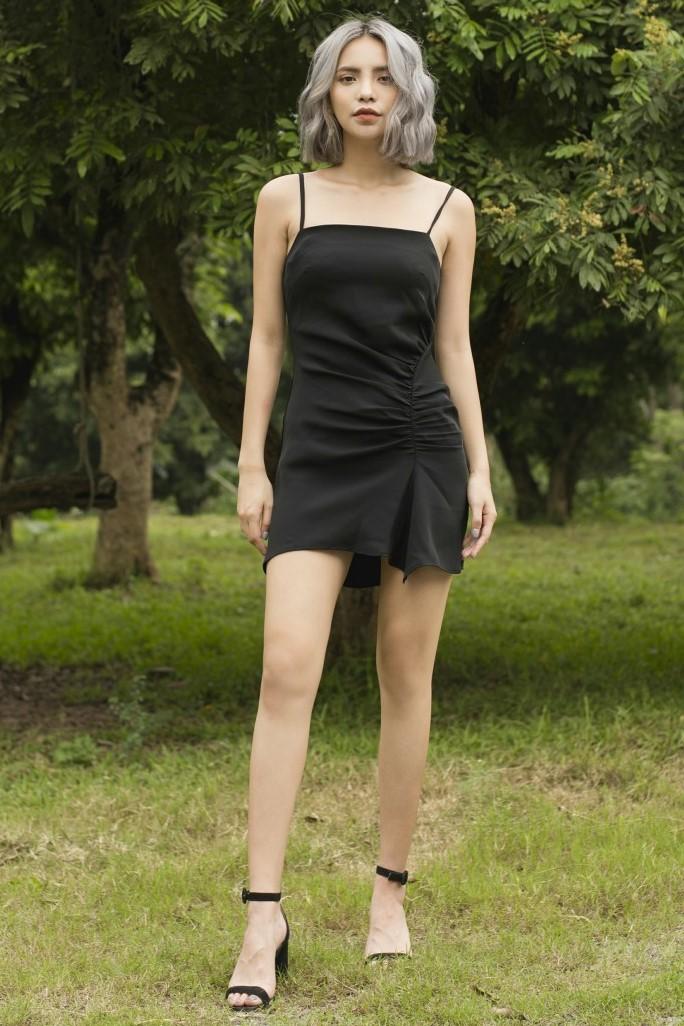 Slip Mini Dress - Váy 2 Dây Ngắn Dún Thân
