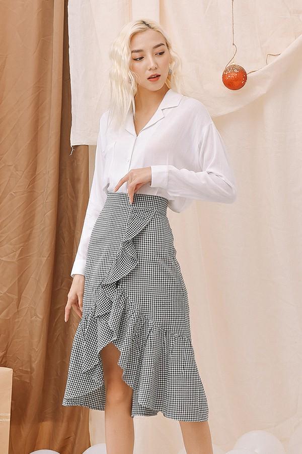 Black Gingham Skirt - Váy Bèo Xòe Kẻ Caro