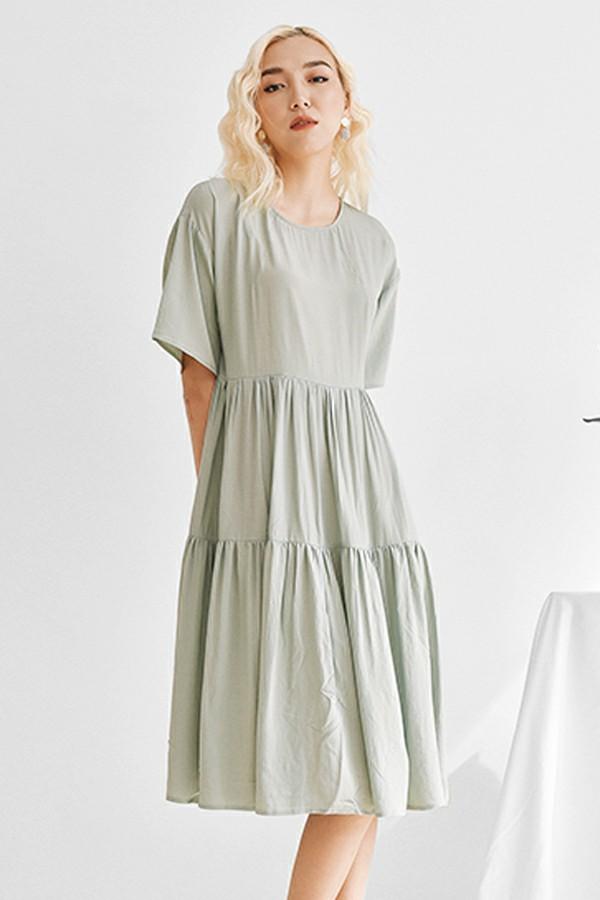 The Mint Dress - Váy Bồng Xanh Bạc Hà