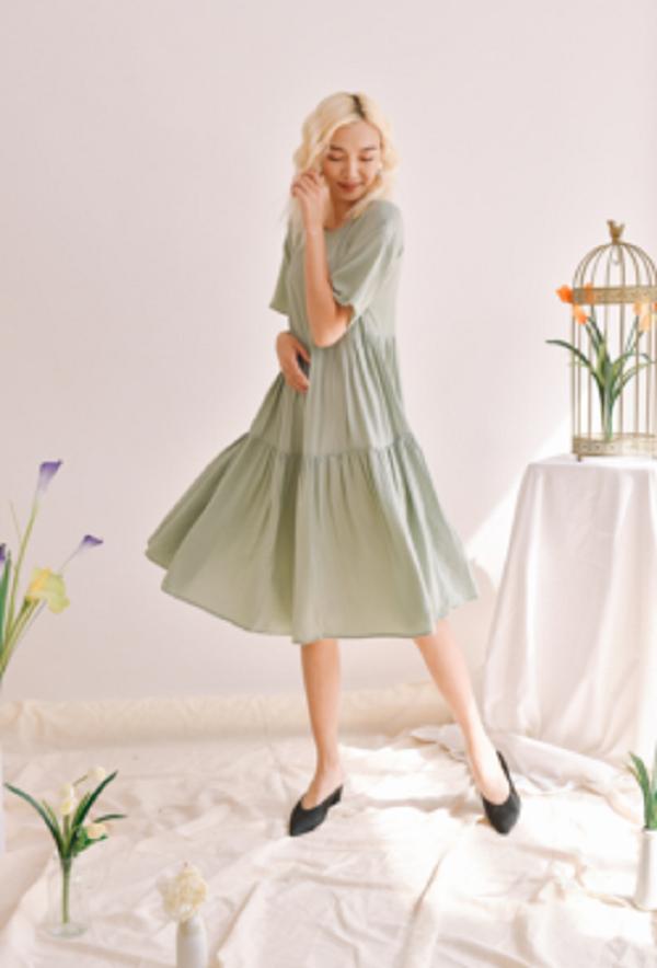 Váy bồng xanh bạc hà 2