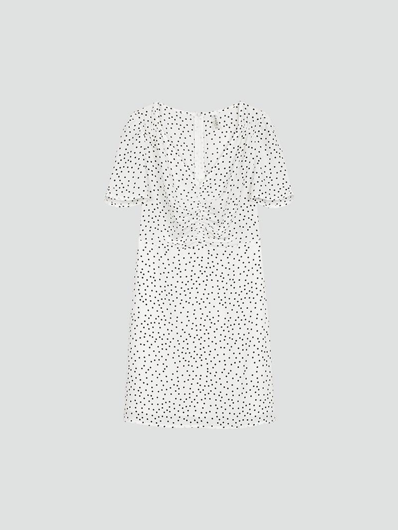 Váy chữ A dún thân chấm bi 5
