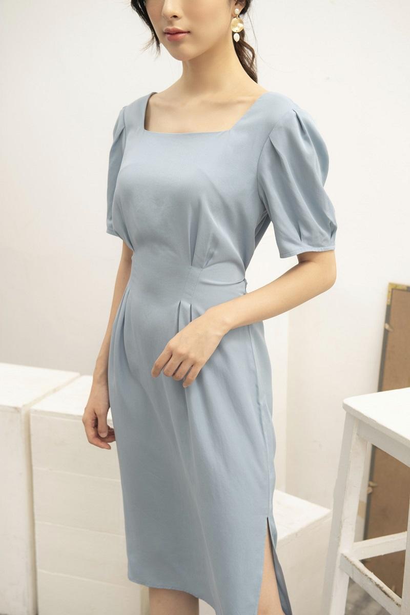 Váy cổ vuông tay bồng 3