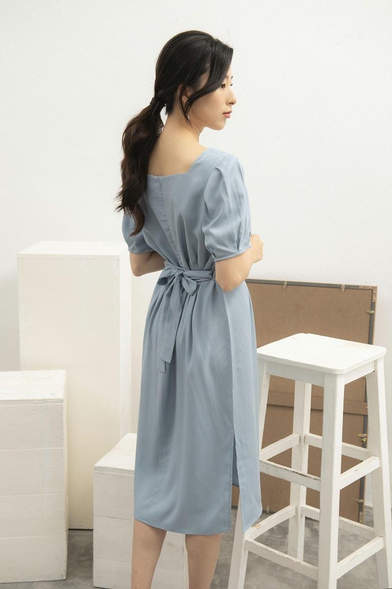 Váy cổ vuông tay bồng 4