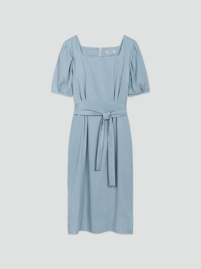 Váy cổ vuông tay bồng 5