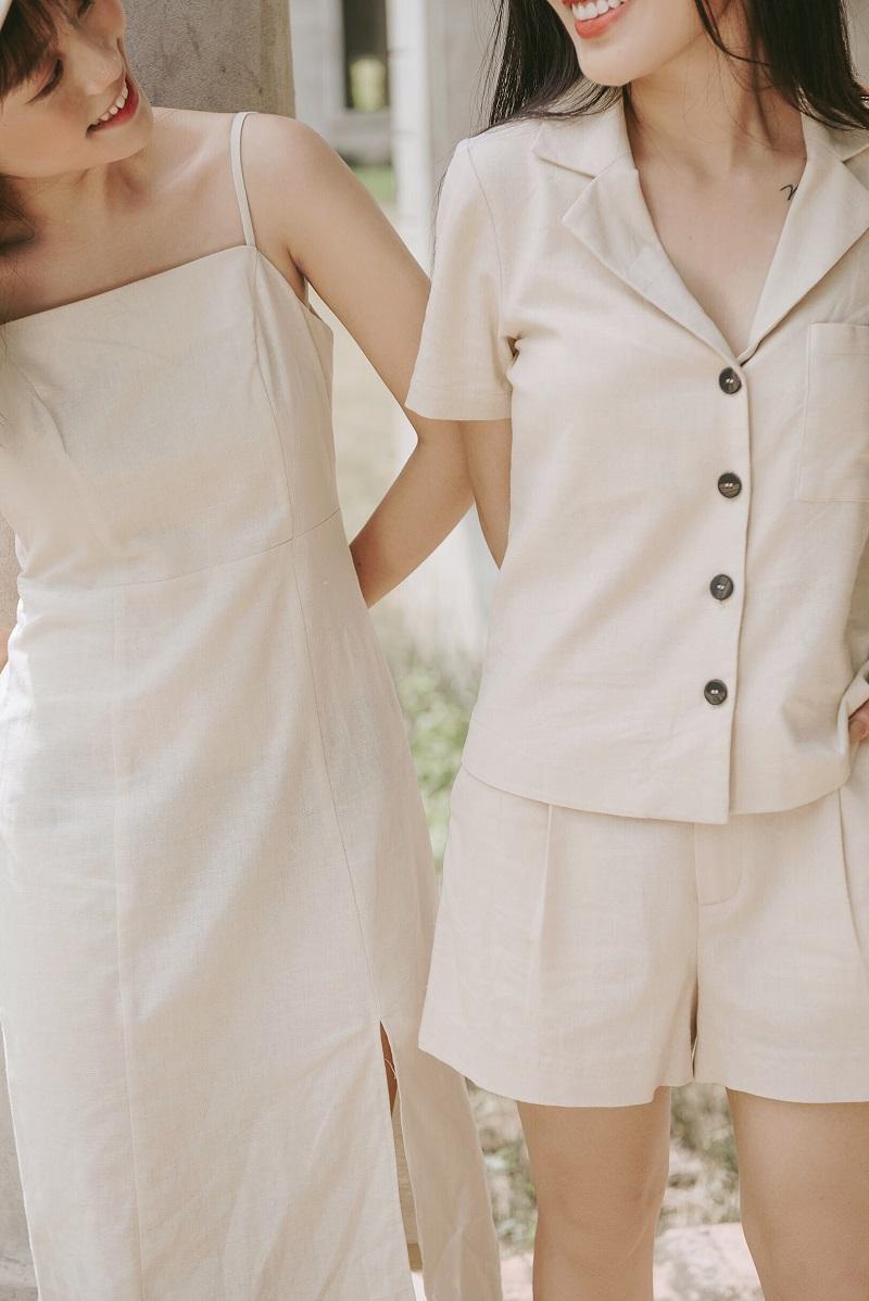Váy 2 dây lanh 4