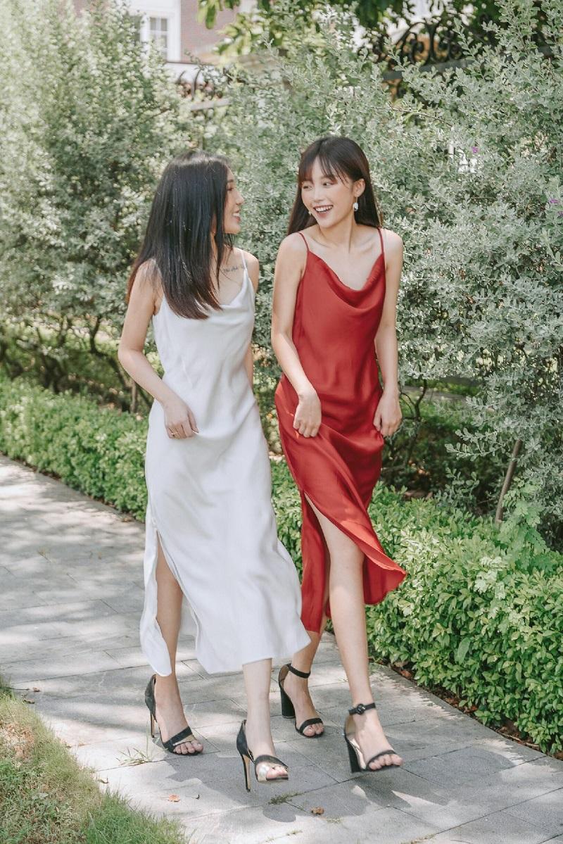 Váy lụa đỏ  4