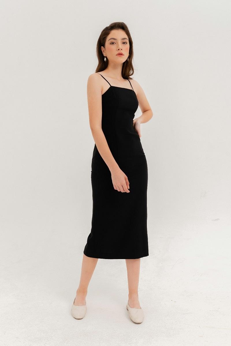 Váy maxi 2 dây trơn 1