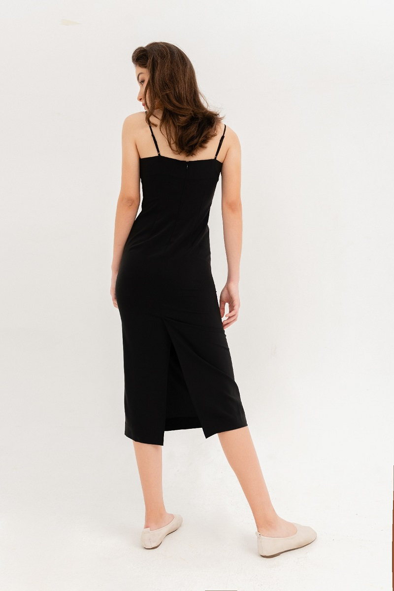 Váy maxi 2 dây trơn 3