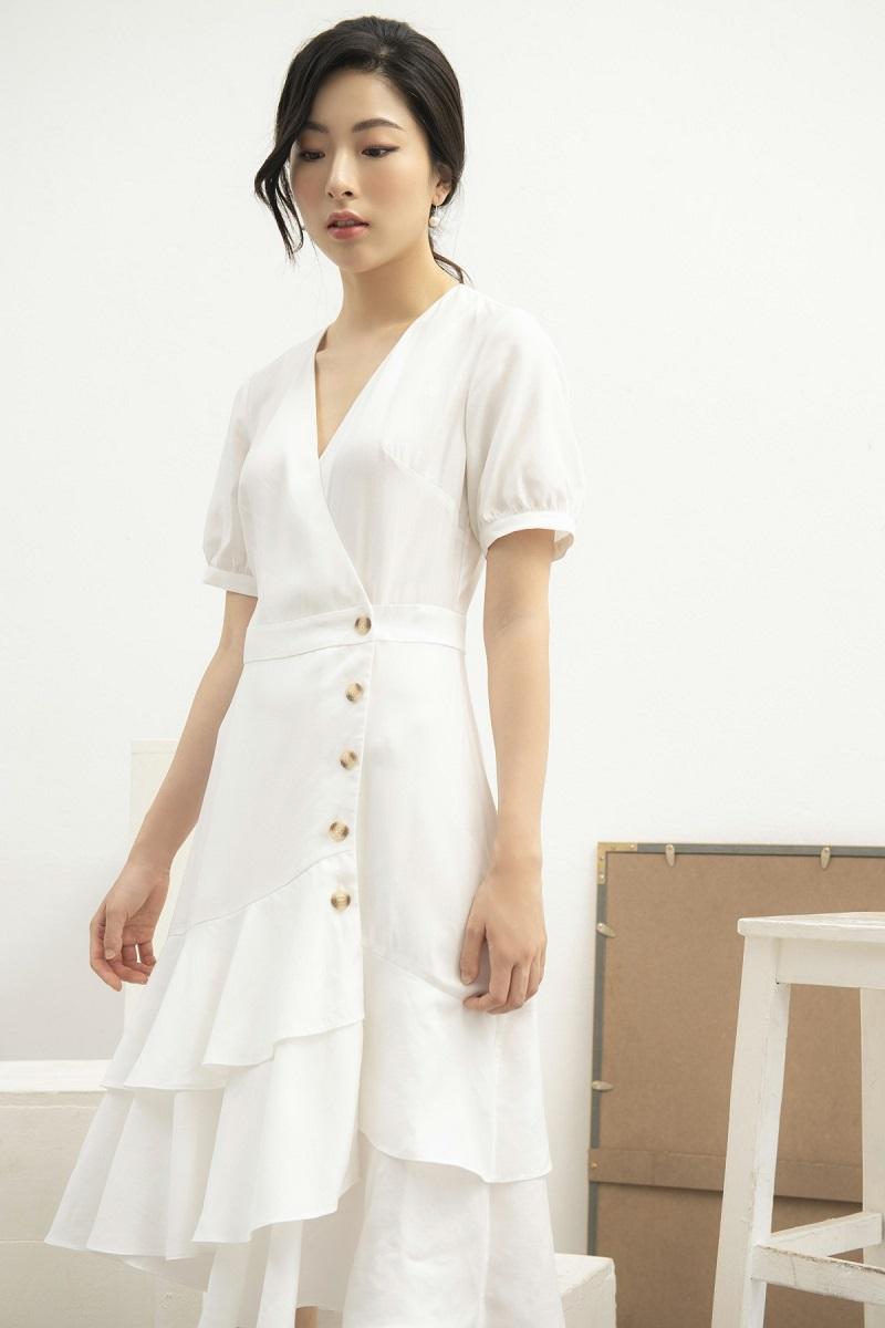 Váy trắng nhiều lớp 2