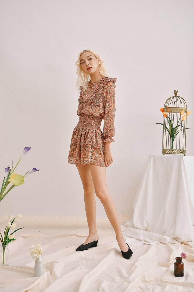 Váy xòe hoa nhí 3