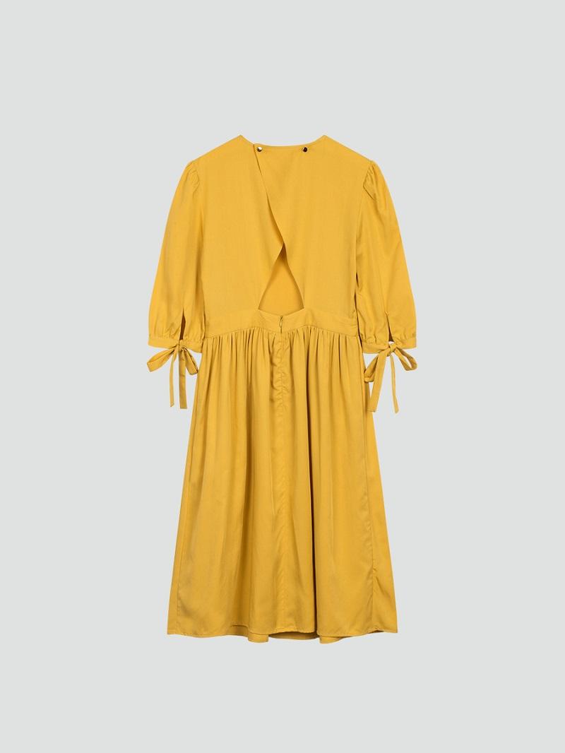Váy xòe xẻ lưng 6