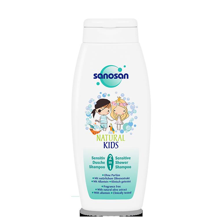 Sữa tắm gội Olive dưỡng ẩm da nhạy cảm Sanosan 250ml
