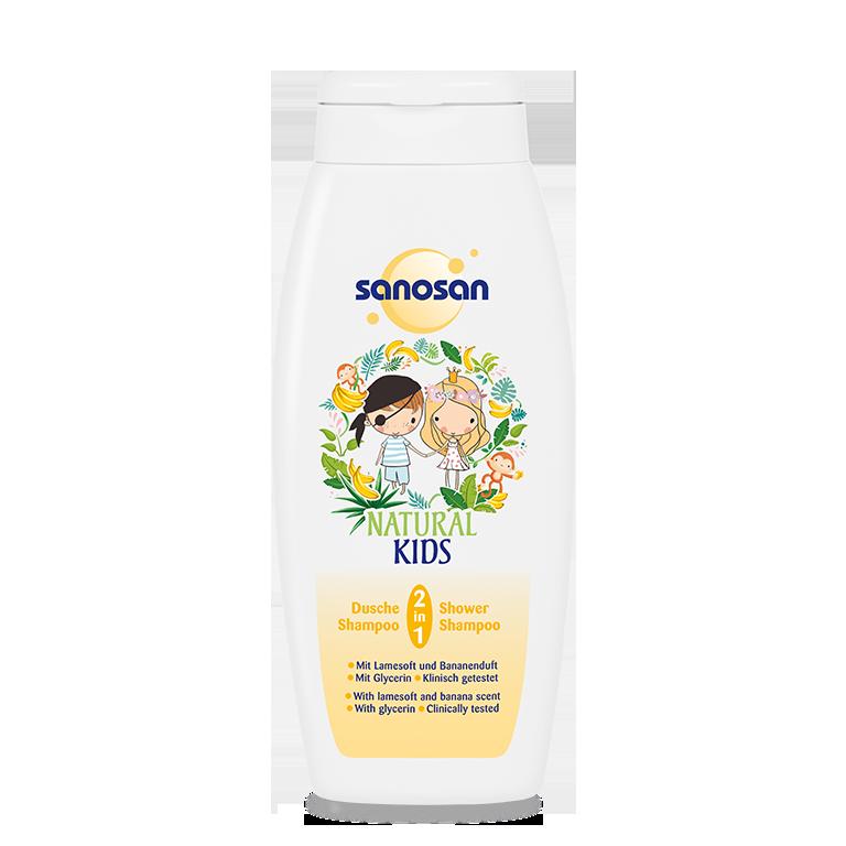 Sữa tắm gội dưỡng ẩm hương Chuối Sanosan 250ml