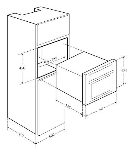 Lò nướng kết hợp vi sóng âm tủ KAFF KF-OMS44L