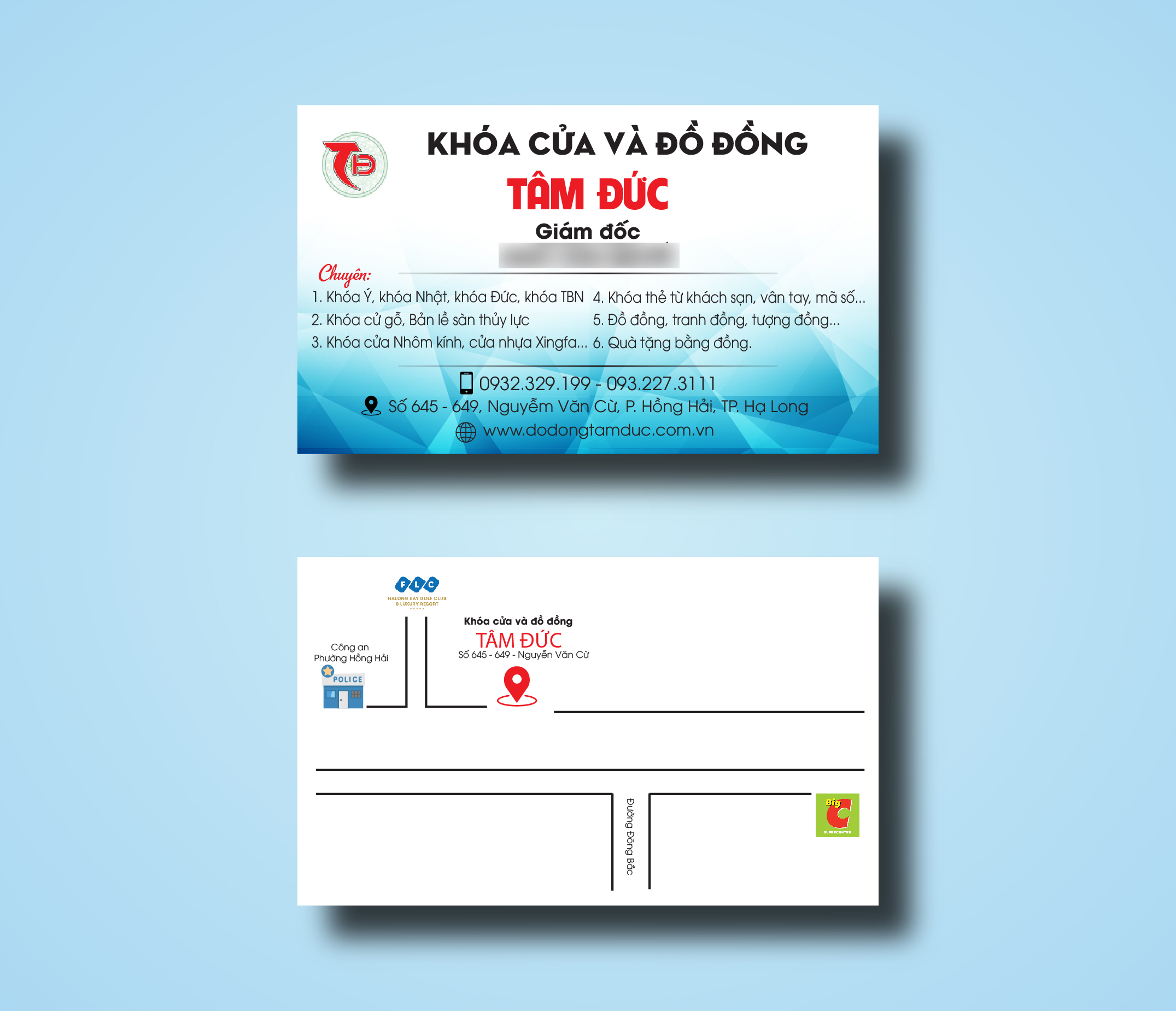 in card visit in danh thiếp