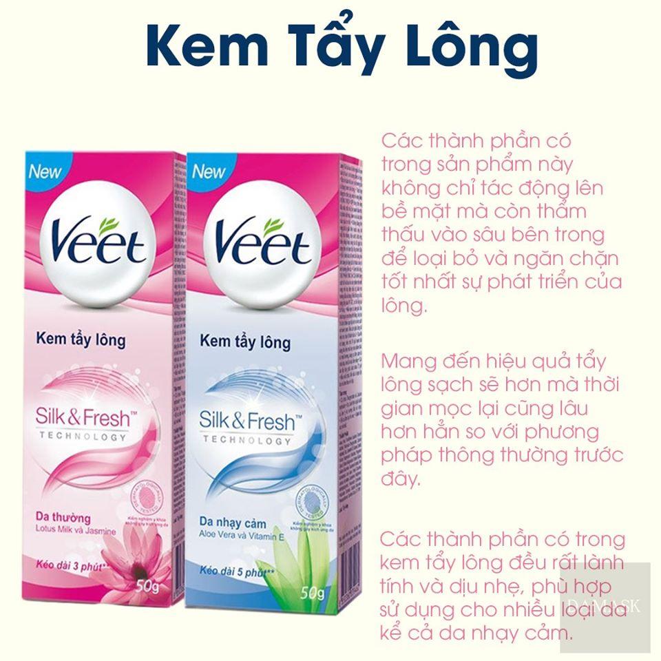 Review kem tẩy lông toàn thân Veet Silk Fresh Technology Damask - Mỹ Phẩm  Chính Hãng