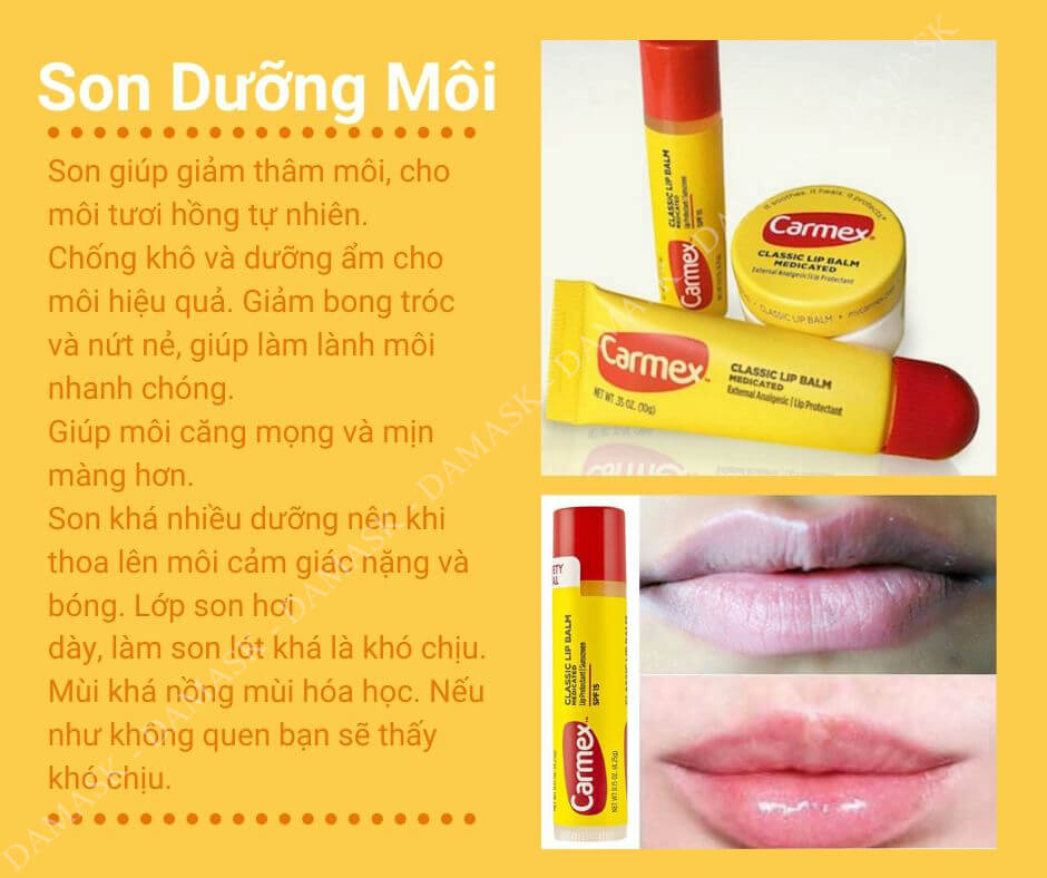 Review Son Dưỡng Môi Carmex Medicated Lip Balm