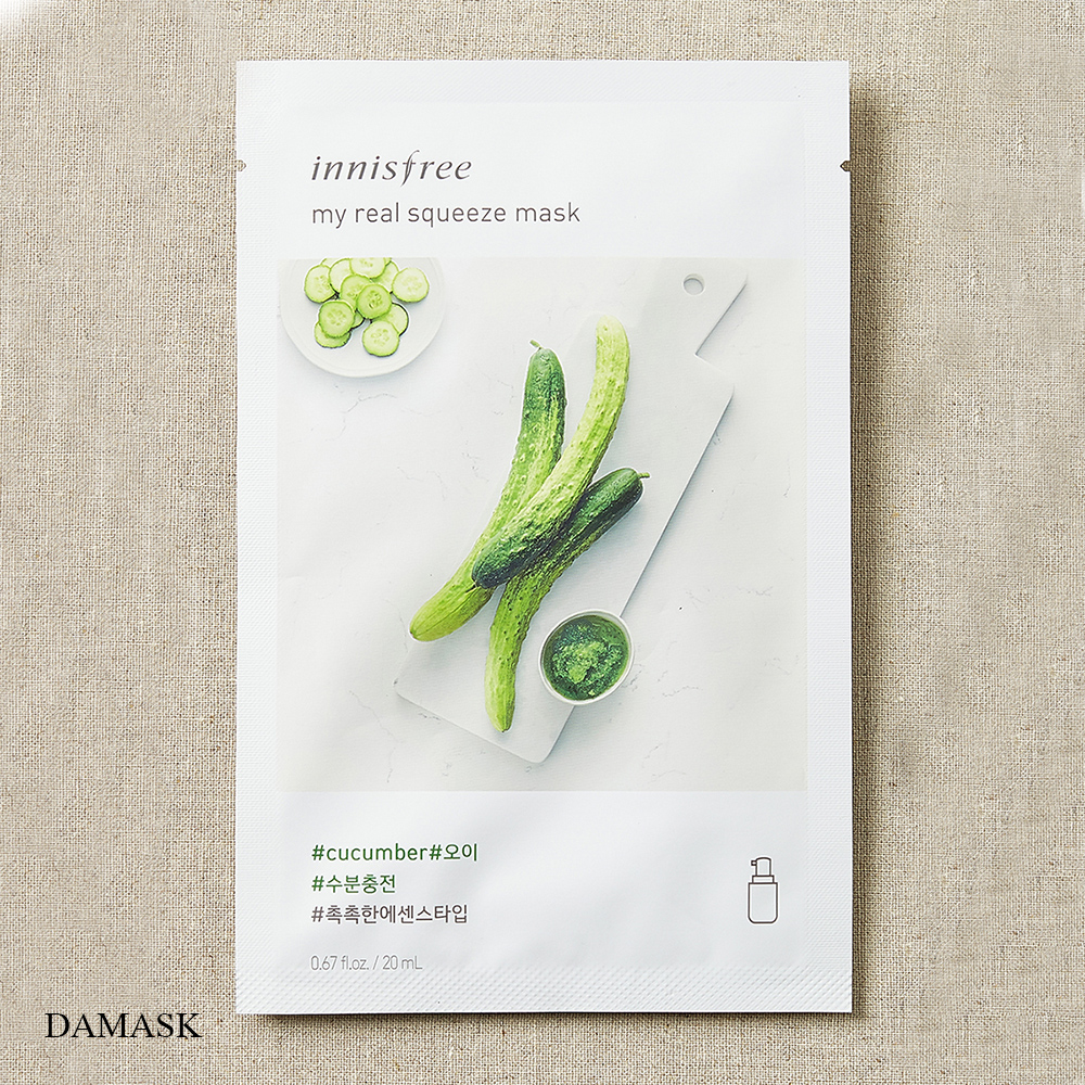 Mặt Nạ Dưỡng Da Chiết Xuất Bông Dưa Leo Innisfree My Real Squeeze Mask Cucumber