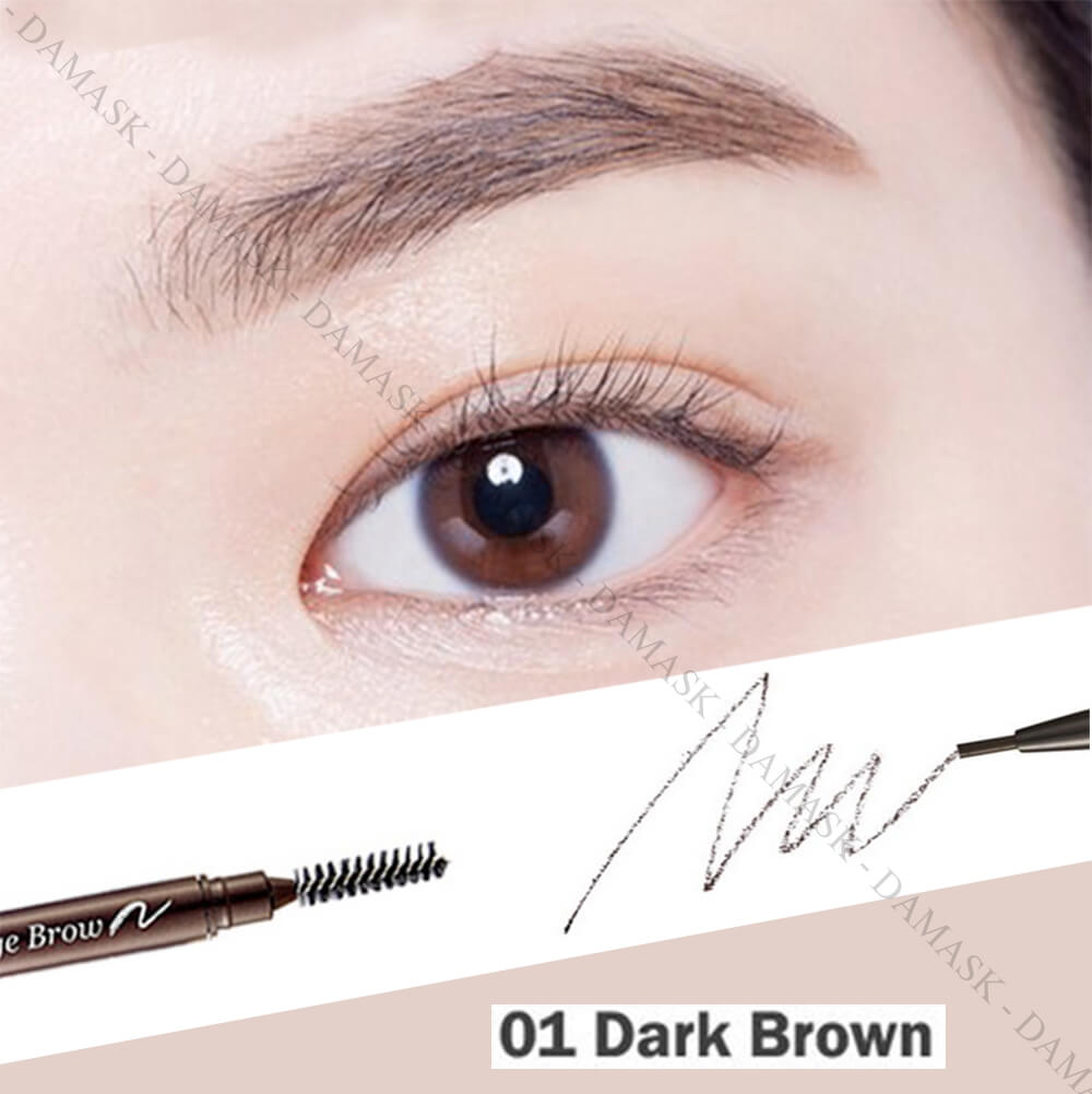 Chì Kẻ Mày 2 Đầu Etude House Drawing Eyebrow Slim - Dark Brown