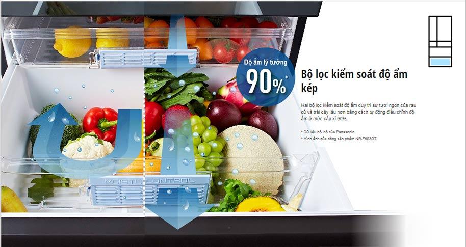 ngăn đựng rau quả của tủ lạnh Panasonic NR-F603GT-N2