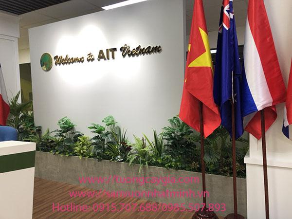 Trang trí bục cây văn phòng tại số 8 Tôn Thất Thuyết - Hà Nội
