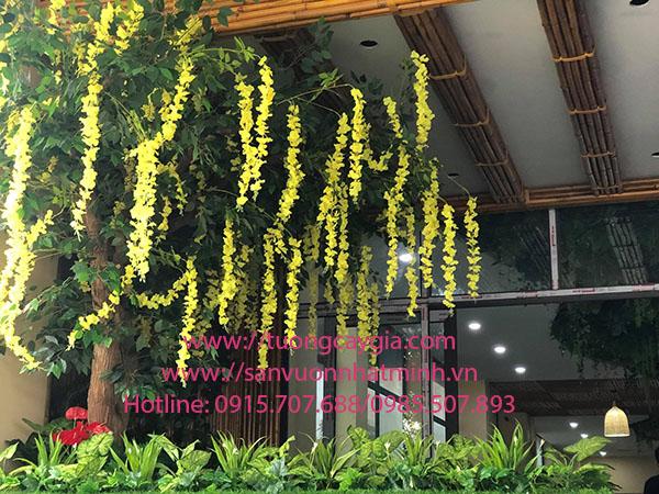 Trang trí hệ thống cây xanh tại nhà điều hành xe khách Sơn Hà - Hải Vân