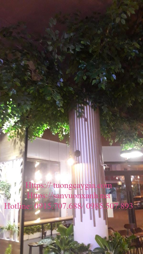 Cây si giả làm từ cột tòa nhà tại Quế Võ, Bắc Ninh