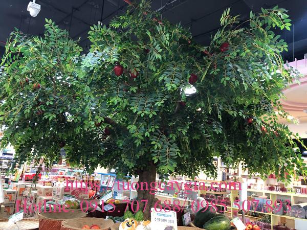 Thi công cây táo giả tại siêu thị K-market