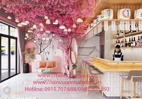 Lắp đặt hoa Anh Đào tại đảo Phú Quốc