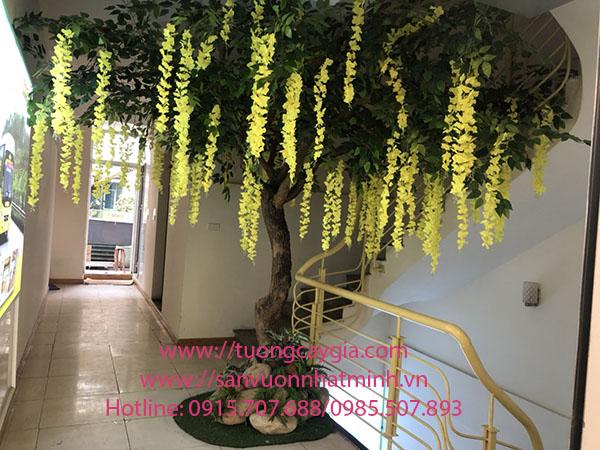 Lắp đặt hoa Tử đằng tại 270 Nguyễn Hoàng, Mỹ Đình, Nam Từ Liêm, Hà Nội