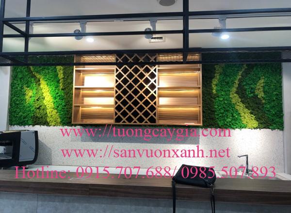Thi công thảm rêu nhân tạo tại 47 Võ Chí Công, Hà Nội