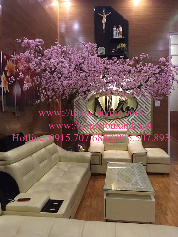 Thi công cây hoa anh đào dáng đẹp tại HCM