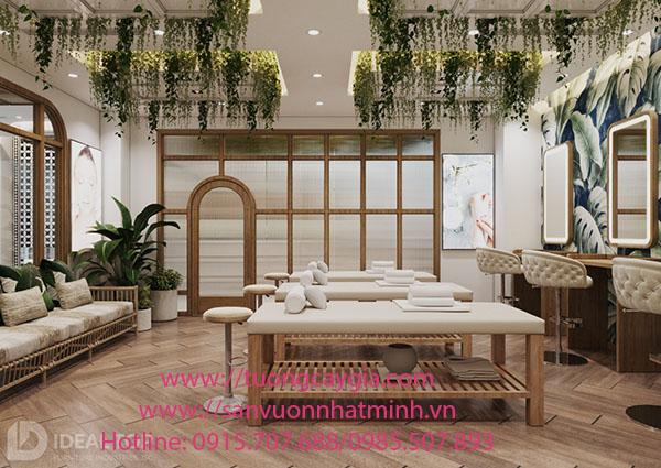 Trang trí dây rủ cho Spa Lam Thanh - Củ Chi - TP HCM