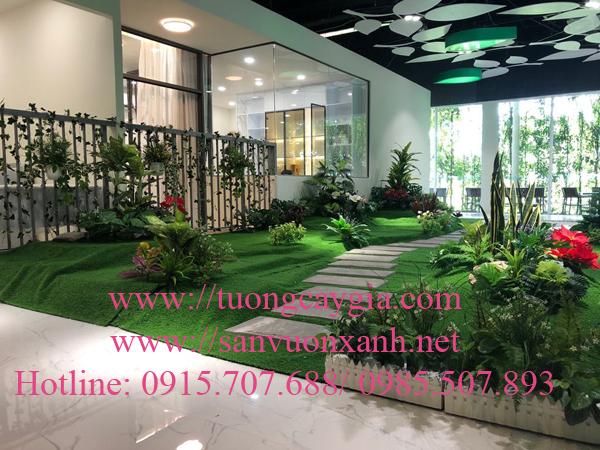 Trang trí tiểu cảnh căn hộ mẫu dự án Eco Xuân - Bình Dương