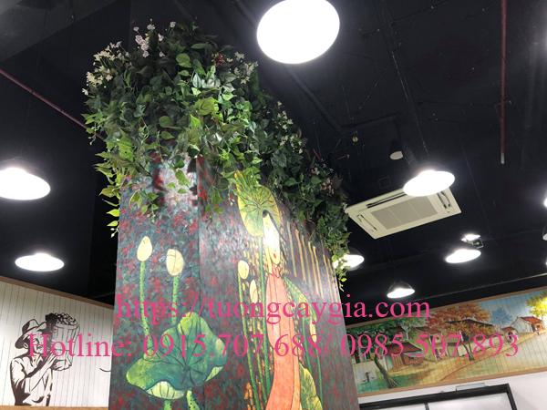 Trang trí bục cây giả tại Ecopark - Văn Giang - Hưng yên
