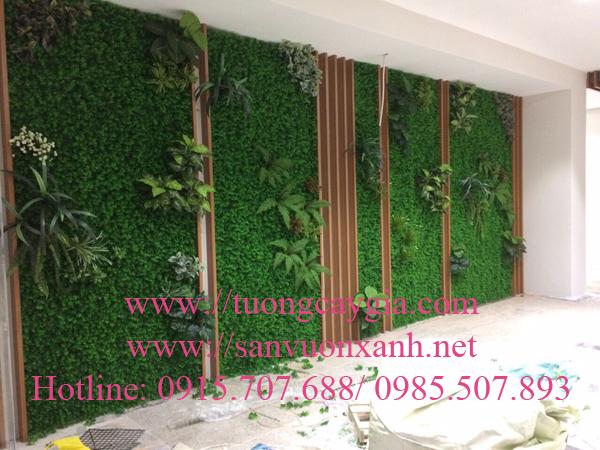 Lắp đặt vách tường cỏ điểm cây lá tại quận 3- TP HCM