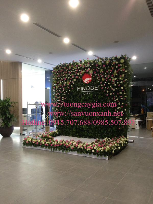 Trang trí backdrop hoa hồng tại dự án Hinode City, 201 Minh Khai, HN