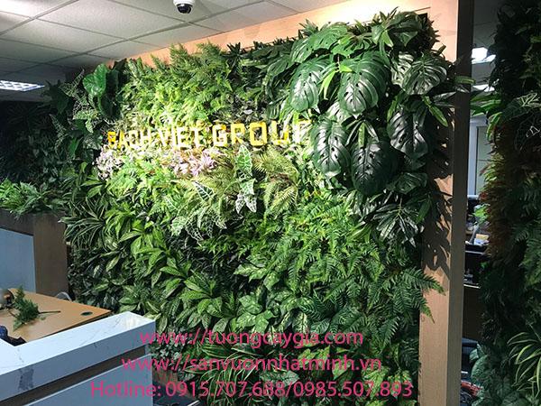 Tường cây giả tại Bách Việt Group - Hà Nội