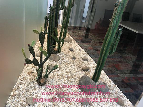 Trang trí hệ thống cây xanh nhân tạo tại FPT Tower số 10 Phạm Văn Bạch - Cầu Giấy - Hà Nội