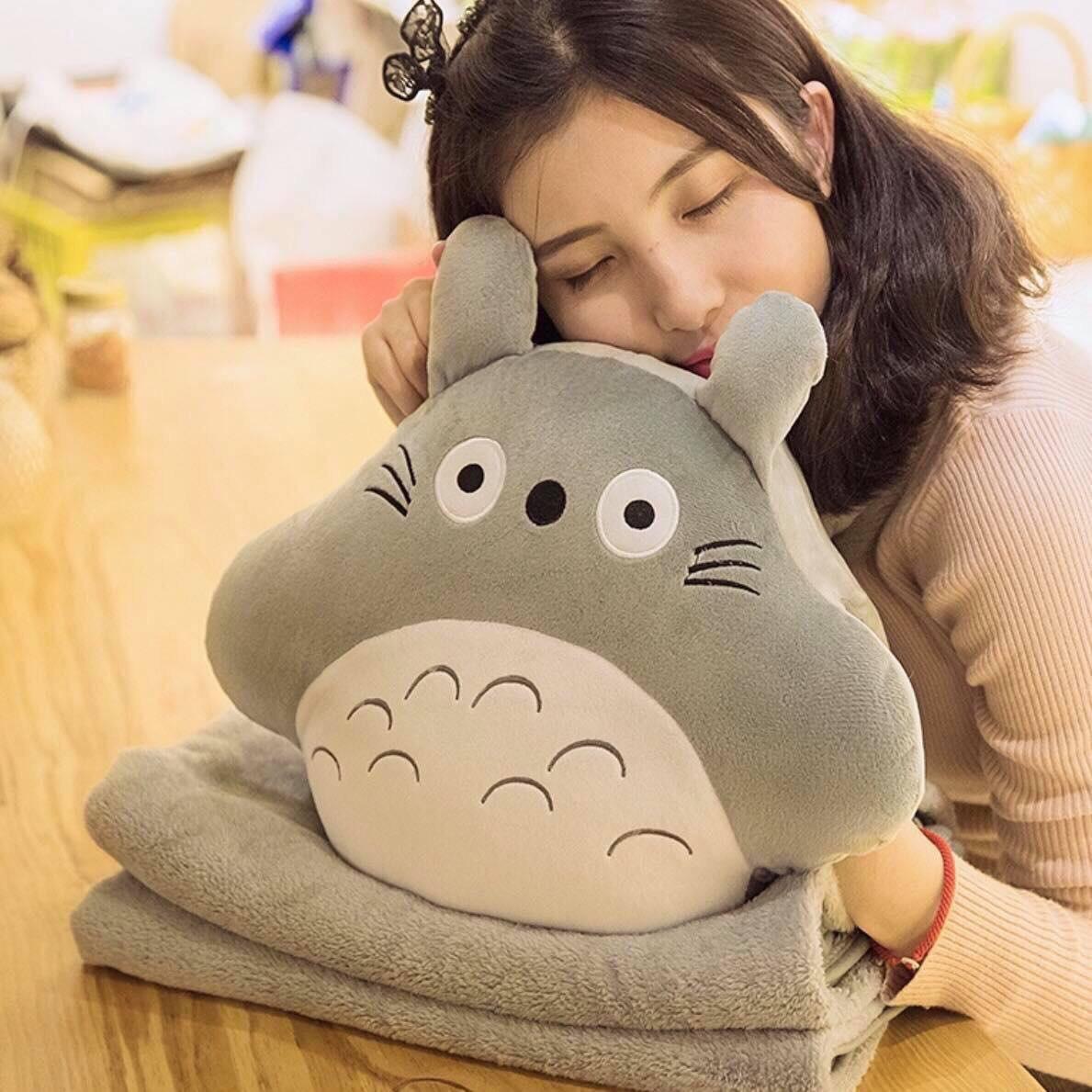 Totoro đút tay kèm chăn